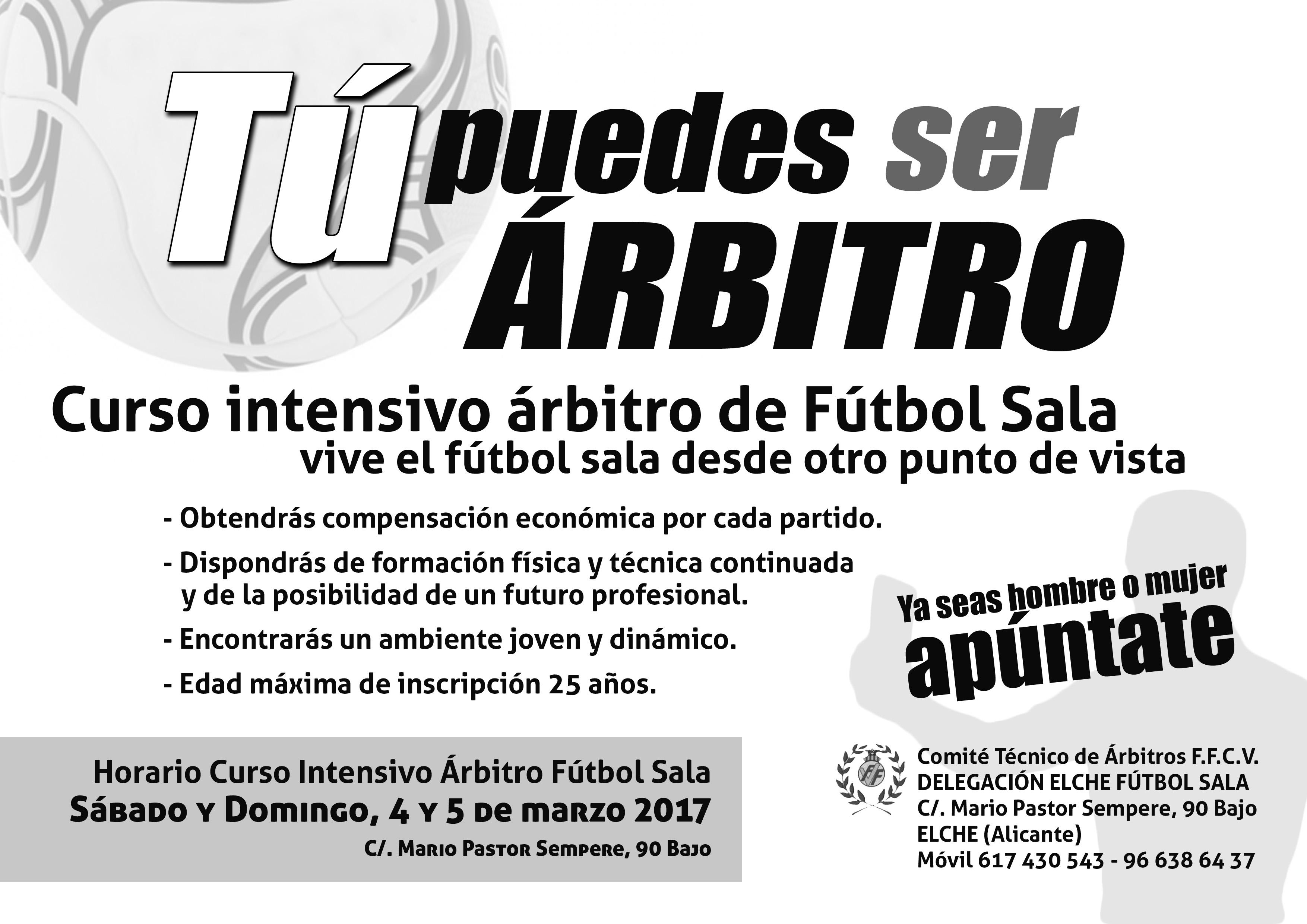 Nueva oportunidad para obtener la titulación como árbitro en la Comunidad  Valenciana. Este nuevo Curso de Arbitro de Fútbol Sala se impartirá de  manera ... 1ff30e018863b
