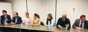 Jesús Cañizares, Salva Gomar, Dolores Martelli, Rafa del Amo, María Dolores Verdugo y Sonia Torres Colegio Abogados Alicante Jornadas Jurídicas de La Roja